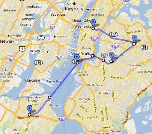 a map of our pizza bike tour. click to see route and details.